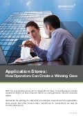 Application Stores: How Operators Can Create a Winning Case