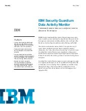 Whitepaper IBM Guardium Data Activity Monitor