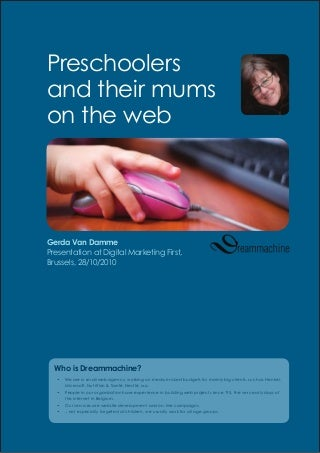 Preschoolers & their mums on the web