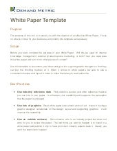 simple white paper template