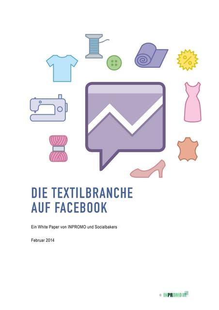 Die Textilbranche auf Facebook - Ein White Paper von INPROMO und Socialbakers (02/14)