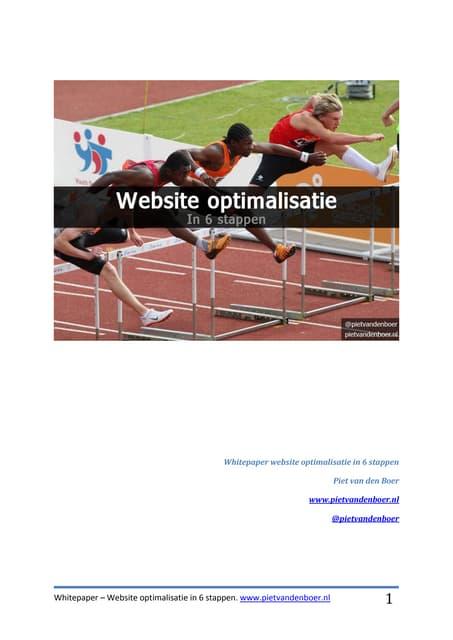 Whitepaper website optimalisatie in 6 stappen