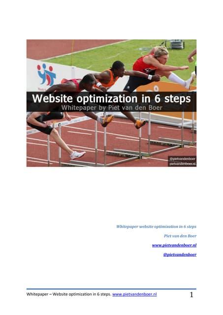 Whitepaper website optimization in 6 steps
