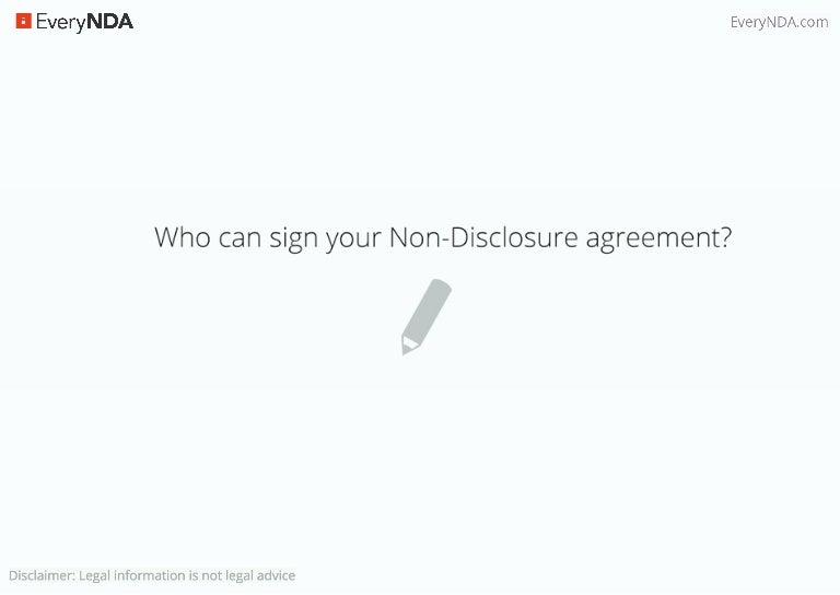 Who Can Sign Non Disclosure Agreements