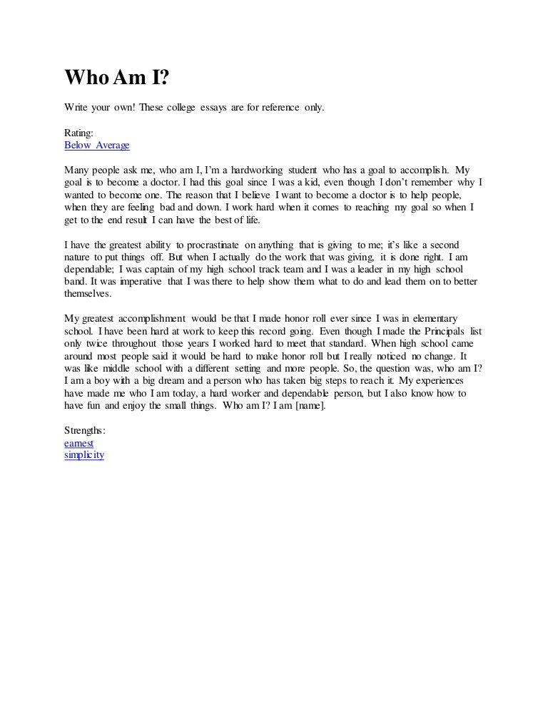 Essay on who am i online shopping essay