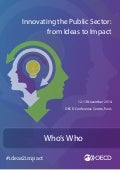 OECD conference on Innovating the Public Sector: From Ideas to Impact - Who's Who of Speakers (12-13 November 2014)