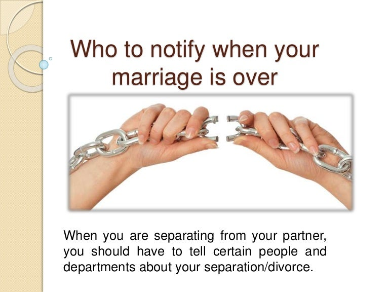 Separation In Marriage