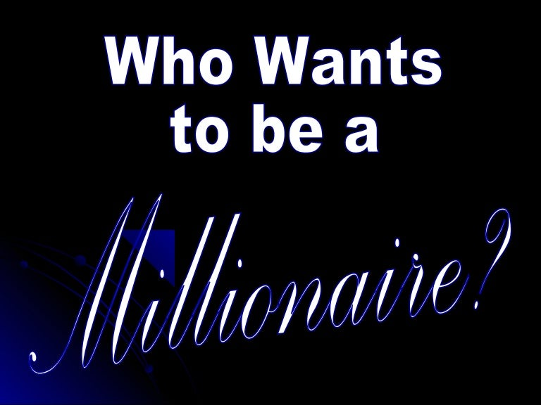 who wants to be a millionaire - template, Powerpoint templates