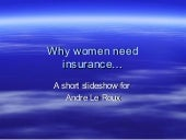 Why women need insurance