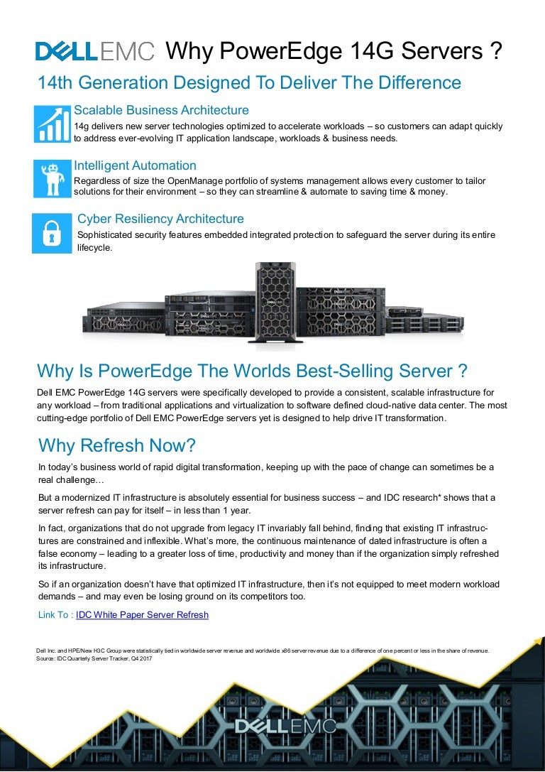 Why Upgrade To Dell EMC PowerEdge 14G Servers