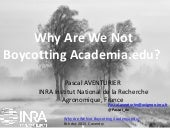 Why are we not boycotting academia.edu ? my participation