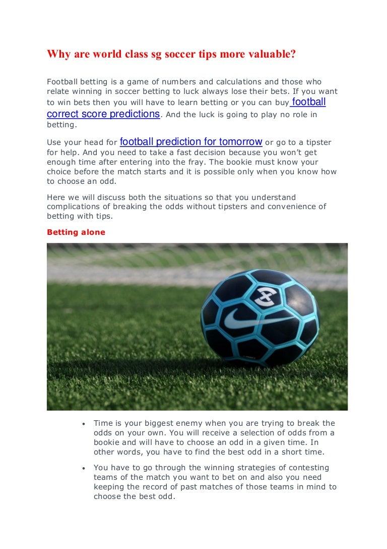 world soccer betting predictions