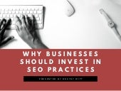 Why Businesses Should Invest in SEO Practices | Destry Witt