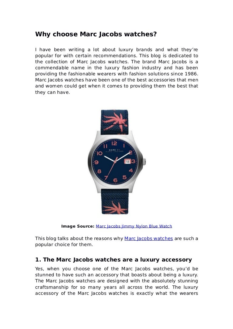 8831106d0002 Why choose marc jacobs watches