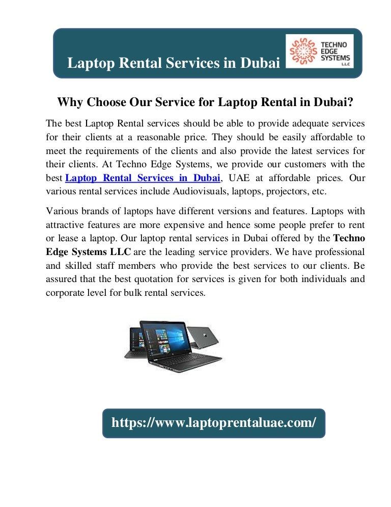 Why Choose Our Service for Laptop Rental in Dubai?