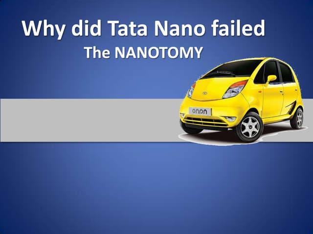 Why did tata nano failed