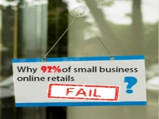 Why do 92% of small business online fail 1