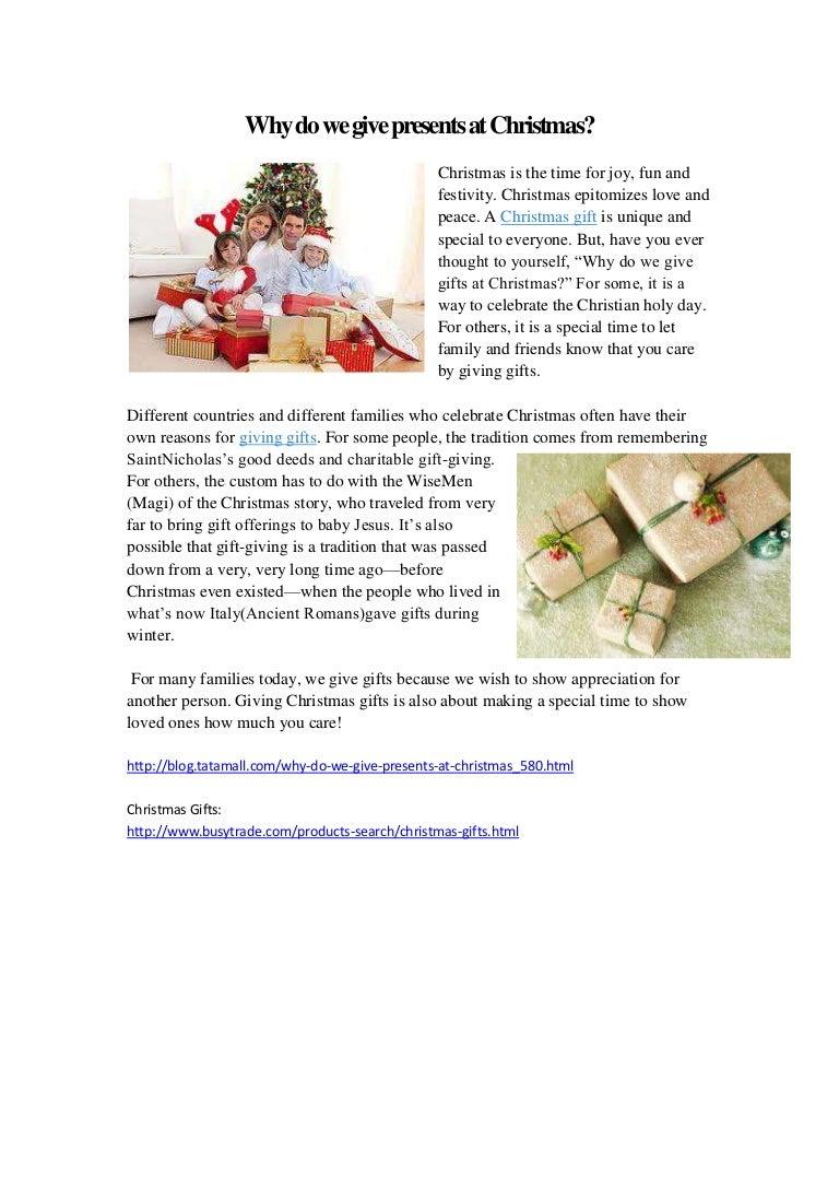 Why do we give presents at christmas -tatamall blog
