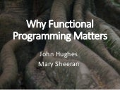 Why Functional Programming Matters by John Hughes