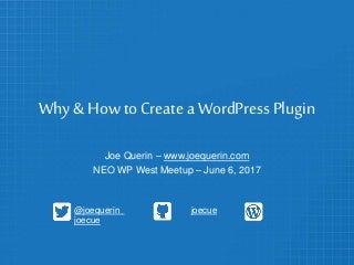 Why & How to Create a WordPress Plugin