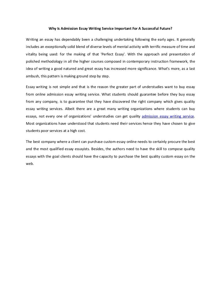 Admission essay writing course