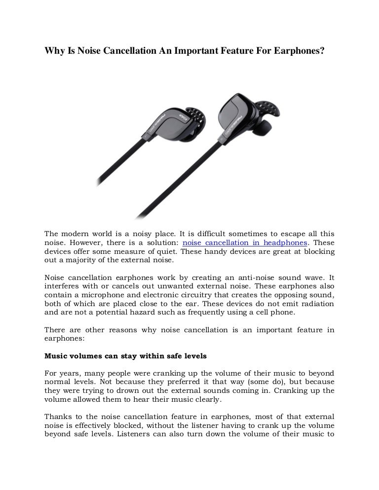 Why Is Noise Cancellation An Important Feature For Earphones