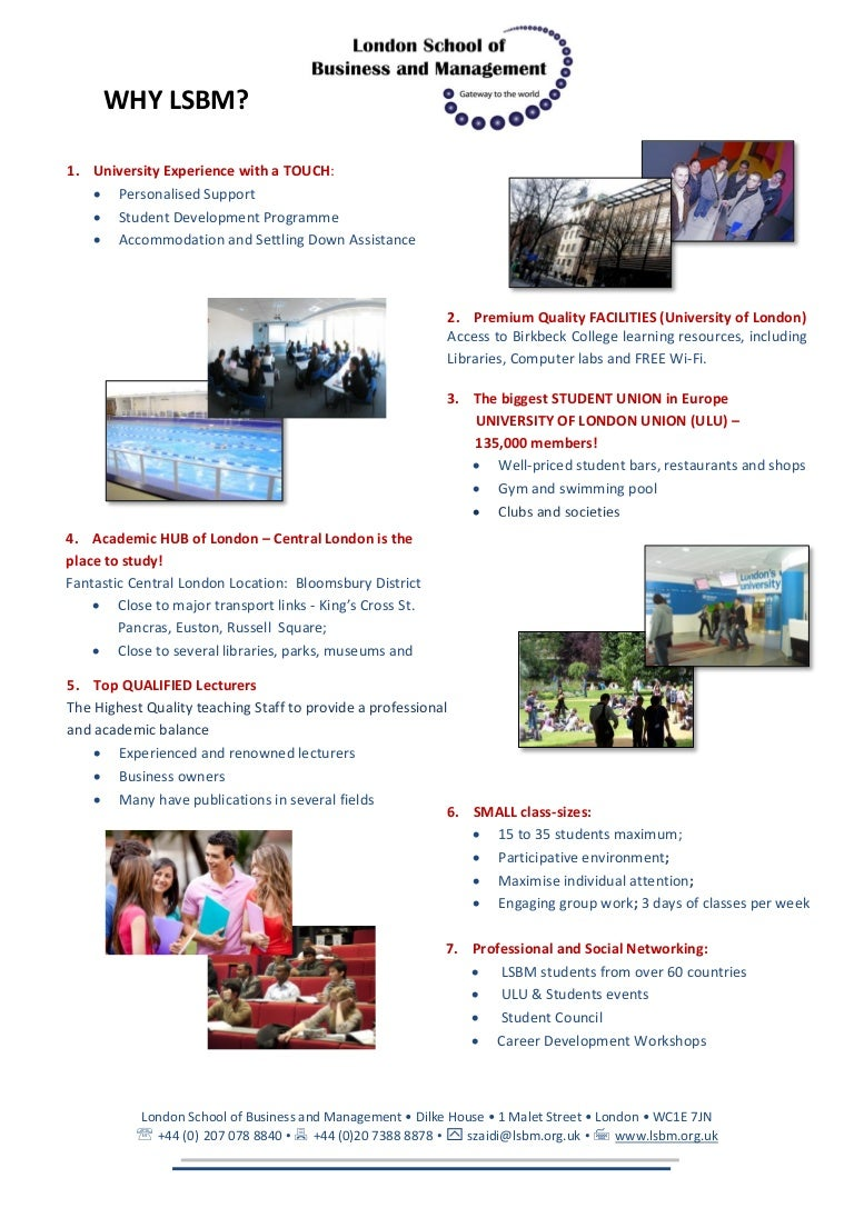 London School Of Business And Management Why Lsbm