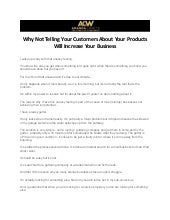 Why Not Telling Your Customers About Your Products Will Increase Your Business