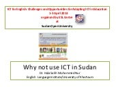 Why not use ict in sudan