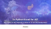 Why Python is the Language of Choice for AI and ML Development?