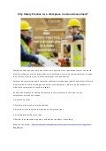 Why safety practice for a workplace is a good investment?