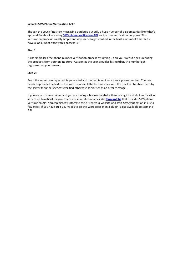 sms verification website