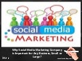 Why social media marketing company is important for any business, small or large