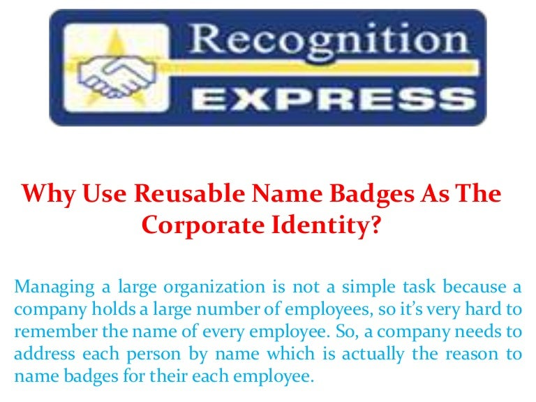 Why use reusable name badges as the corporate