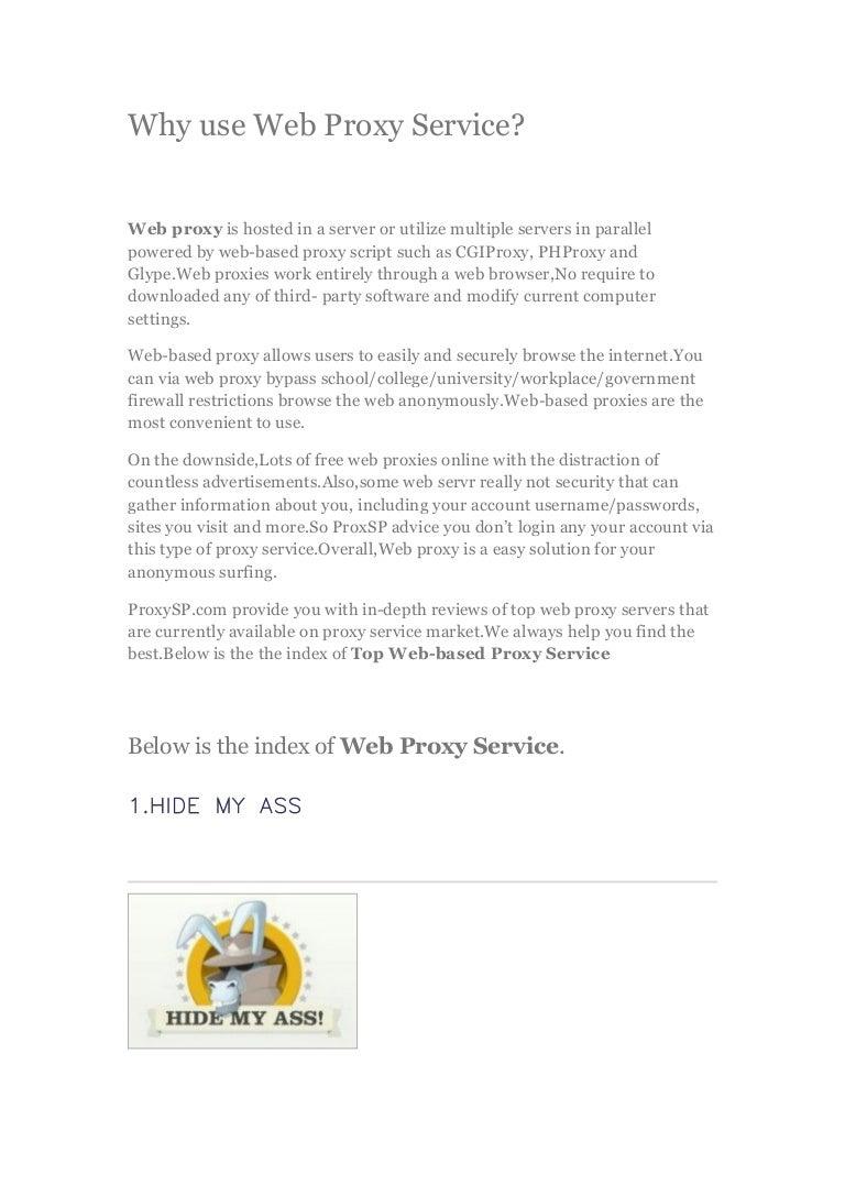 Why use web proxy service - Find Best web proxy online!