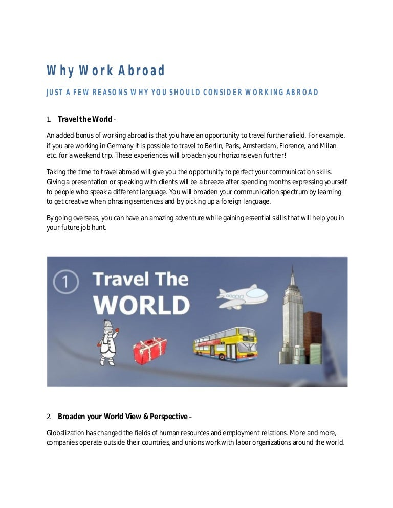 why work abroad