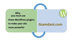 Why you must use these wordpress plugins to make your site more powerful