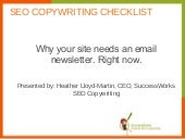 Why your site needs an email newsletter. Right now.