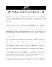 Why Your Social Media Presence Is Destined To Fail