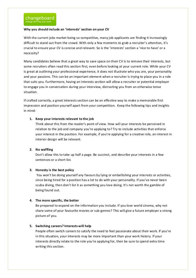 skills and interests resume examples good cv hobbies and interests – Interests Resume Examples