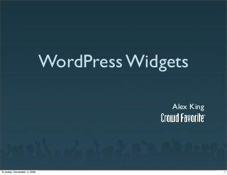 WordPress Widgets - Widget Summit 2008