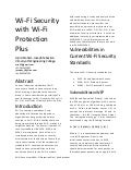 Wi-Fi Security with Wi-Fi P+