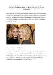 Wiki fashionista radar celebrity in the fashion business