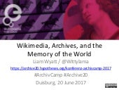 Wikipedia, culture, and the memory of the world