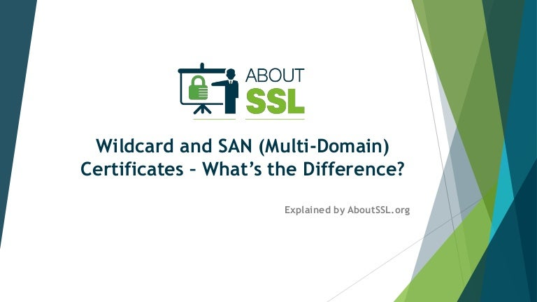 Wildcard And San Multi Domain Certificates Whats The Difference