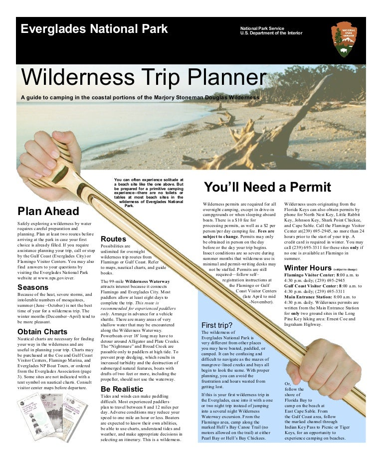 nostalgicoutdoors everglades national park wilderness trip planner