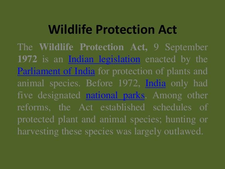 wildlife protection in india