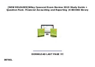 [NEW RELEASES]Wiley Cpaexcel Exam Review 2019 Study Guide + Question Pack: Financial Accounting and Reporting -E-BOOKS library