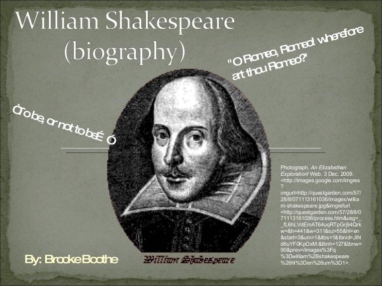 Biography Of William Shakespeare Essay  William Shakespeare Biography
