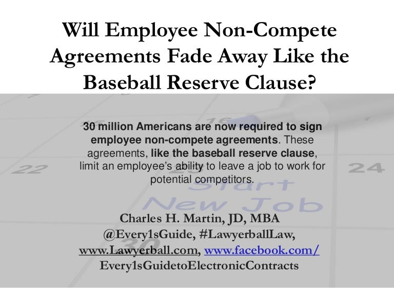 The reserve clause and employee non compete agreements will the inf platinumwayz
